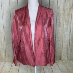 Eileen Fisher Pink Metallic Blazer
